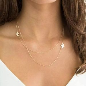 Double Layer Bird Necklace